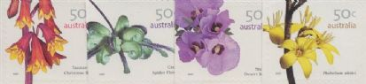 AUS SG2763-6 Australian Wildflowers (3rd series) self-adhesive set of 4 from booklets (exSB226-7)